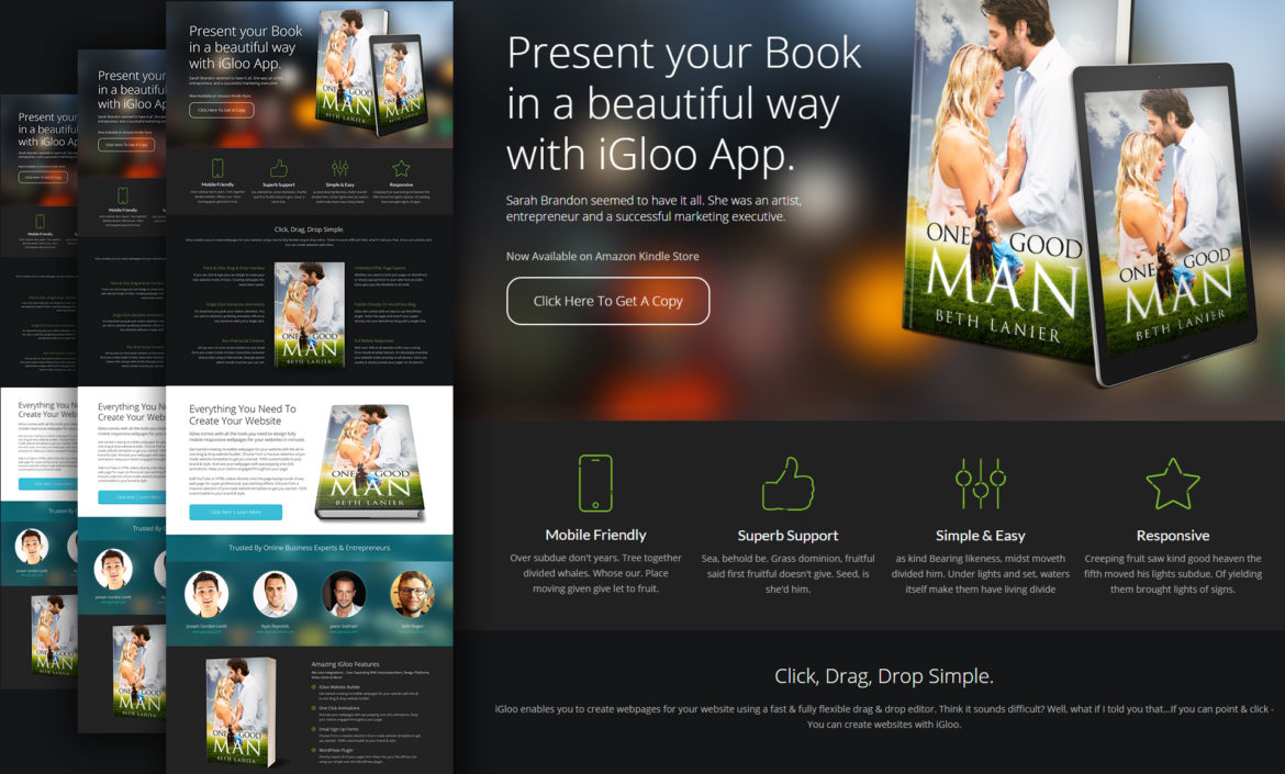 Book Cover Making Websites : Point click drag drop web page builder book cover mall